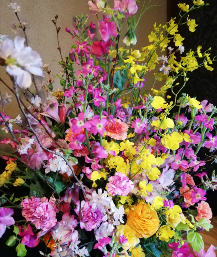 2020.3.28玄関のお花
