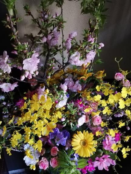 2020.4.2玄関のお花